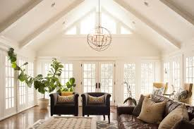 cathedral ceilings family room traditional with clerestory window chandelier for cathedral ceiling