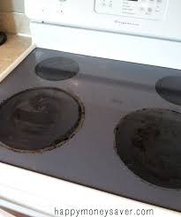 thrifty way to clean those pesky burnt on food on a glass stovetop