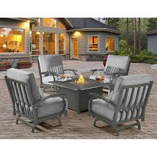 breathtaking patio furniture fire pit table set outdoor pits sets costco madison 5 piece with