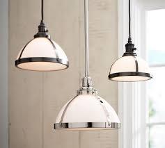 pb classic milk glass pendant pottery barn inside light idea 0