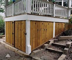 Deck Designs With Storage Underneath Storage Under Deck Under Deck Storage Deck Storage