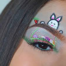 easter eye makeup look