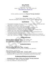 physical therapy assistant resume student resume template physical therapy assistant resume getessaybiz