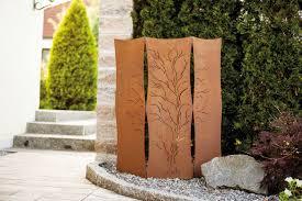 Sch N Metall Sichtschutz Garten Erstaunlich Metalltz Deco Art Rost Edelrost Garten Sichtschutz H Cm