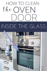 clean oven glass door