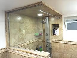 shower door splash guards 1 guard glass frameless
