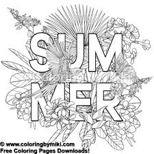 Summer Garden Coloring Page 720 Coloring By Miki