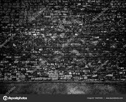 part of the old black brick wall photo by dmitr1ch