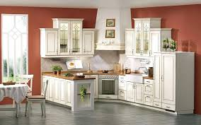 kitchen colors with white cabinets alluring antique white cabinets combined with wooden and brown room painting kitchen colors with white cabinets