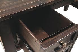 Home office buy devrik Bookcase Brown Yhomeco Brown Wood Desk Desks Banquo Brown Wood And Metal Corner Desk