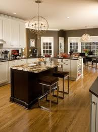 Kitchen White Cabinets For Kitchen With Chocolate Brown Wall Paint