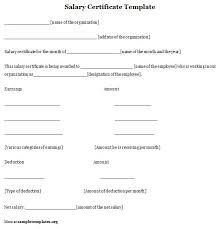 Sample Salary Certificate Bire1andwap 232456582806 Format Of