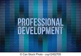 Professional Development Concept Binary Illustration Design Blue