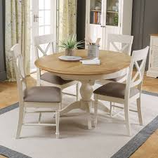 round kitchen table and chairs set intended for sworth cream painted round extending dining table and