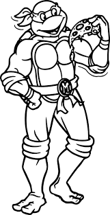 Small Picture Ninja Turtle Cartoon Coloring Pages Wecoloringpage