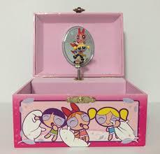 Powerpuff Girls Bedroom 2002 Powerpuff Girls Musical Jewelry Box Pink Working Fur Elise