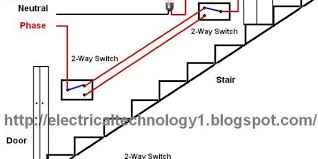 two way switch wiring diagram two discover your wiring staircase wiring circuit diagram electrical technolgy 2 way light switch