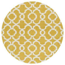 revolution yellow 8 ft x 8 ft round area rug