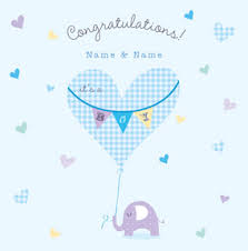 Congratulations On Your Baby Boy New Baby Boy Cards Funky Pigeon