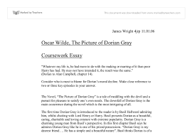 oscar wilde the picture of dorian gray gcse english marked by  document image preview