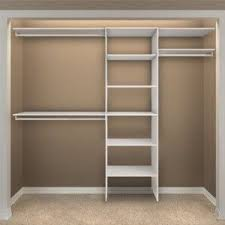 Simple Dressing Room with Closetmaid Shelving Units Organizer, White Wooden  Shelves Closetmaid Ideas, and