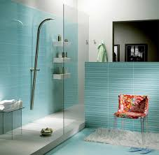 blue bathroom tile ideas:  light blue modern bathroom tiling