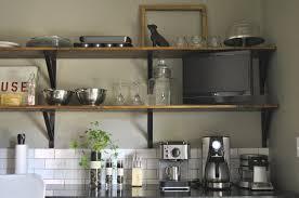 kitchen enticing wooden kitchen wall shelves with black metal regarding metal kitchen wall shelves
