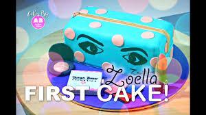 cake 3d zoella s makeup bag fondant cake