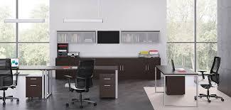 office deskd. 10500 Series Desks In An Open Office Environment Office Deskd