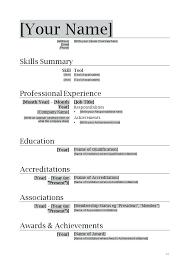Resume Format In Word 2007 Resume Template On Microsoft Word 2007 Simple Resume Format