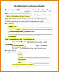Business Contract Example Awesome 48 Event Contract Agreement Sample Business Opportunity Program