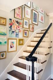 decorating crush hanging art in the stairwell pinterest staircases salon style and gallery wall on wall art gallery ideas with decorating crush hanging art in the stairwell pinterest