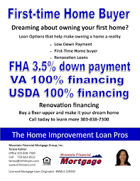 Remodeling Loan Calculator First Time Home Buyer Loan Programs Home Loans Mortgage