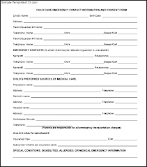 Emergency Contact Forms For Children Employee Emergency Contact Form Template Lovely New Information
