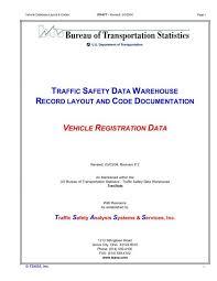 Traffic Safety Data Warehouse Record Layout And Tsass