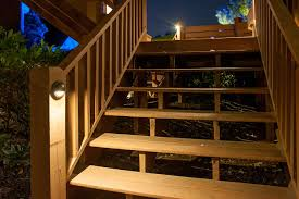timely outdoor stair lighting stairs deck step and