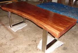 Redwood Slab Dining Table Modern Walnut Dining Table Wood Fusion African Rock Candy Fruit