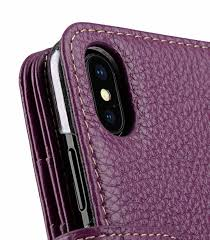 melkco premium leather case for apple iphone x wallet plus book type purple lc