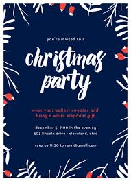 Christmas Inviations 2019 Holiday Party Invitations Match Your Color Style