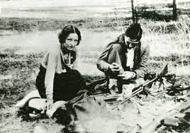 Image result for Bonnie Parker, 24, and Clyde Barrow, 25 are gunned down by police officers in Louisiana. newspapers