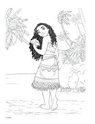 Baby Moana Coloring Pages Grown Up With The Shell Coloring Pages