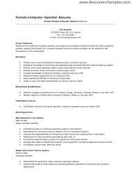 Amazing Cover Letter For Computer Operator 29 On Doc Cover Letter Template  With Cover Letter For