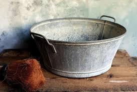 extra large vintage french zinc tub