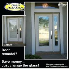 replace glass door a door retrofit for non removable glass in doors can you replace the