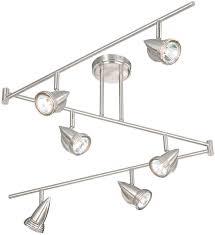 modern track lighting fixtures. Vaxcel SP34166SN Spotlight Modern Satin Nickel Finish 12\u0026nbsp; Tall Halogen Track Lighting. Loading Zoom Lighting Fixtures D