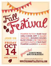 Fall Festival Flier Fall Festival Steindorf Home School Club