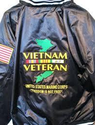 vietnam veteran jacket united states marine corps freedom satin 2 sided vet leather