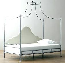 Canopy Bed With Trundle White Twin Wood Size Ts Daybed Iron 6 ...