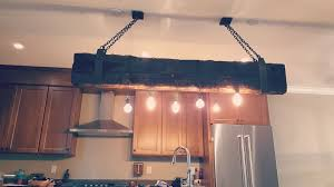 picture of reclaimed industrial beam chandelier