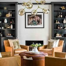 Glamorous Brass Coffee Table Look San Francisco Midcentury Living Living Room Conversation Area